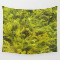 moss Wall Tapestries featuring moss by Adela Casacuberta