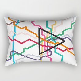 Angular Subway Rectangular Pillow