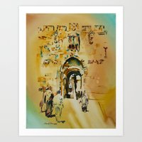israel Art Prints featuring Israel 4 by CarolBoerckel