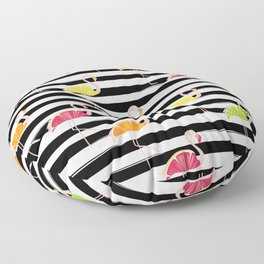 Citrus Flamingo Floor Pillow