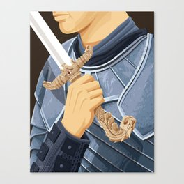 The Honorable Knight - WORDLESS Canvas Print