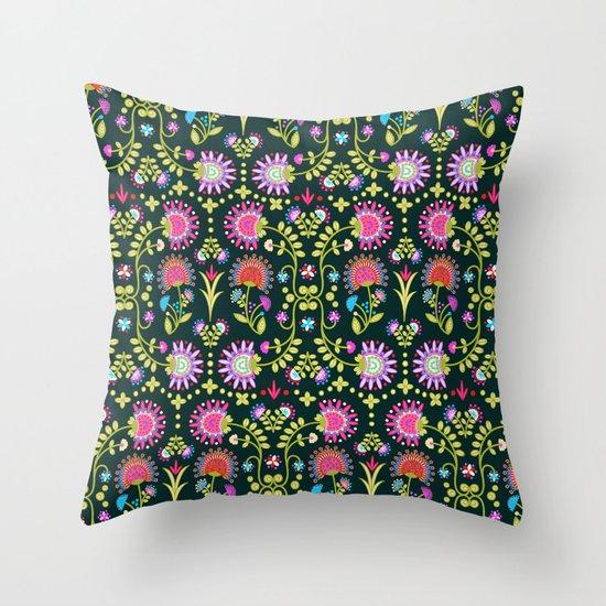 Folkloric 1 Throw Pillow