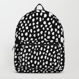 Handmade polka dot brush strokes (black and white reverse dalmatian) Backpack