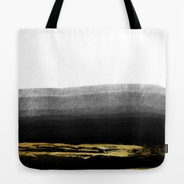 Black & Gold Stripes on White - Mix & Match with Simplicty of life Tote Bag