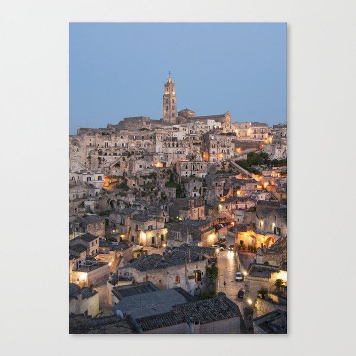 Sassi di Matera, Italy Canvas Print