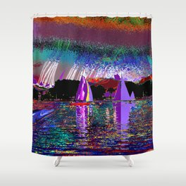 sailing today Shower Curtain