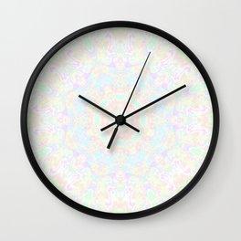 Pastel Swirl Mandala 2 Wall Clock