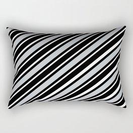 TEAM COLORS 1...black,gray Rectangular Pillow