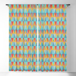Harlequin pattern, contrasting diamonds. Blackout Curtain
