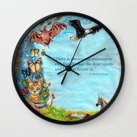will graham Wall Clocks featuring Graham Greene, childhood by dawn schreiner