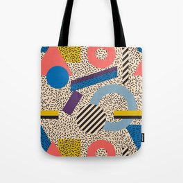 Memphis Inspired Pattern 3 Tote Bag