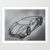 Lamborghini Aventador  Art Print