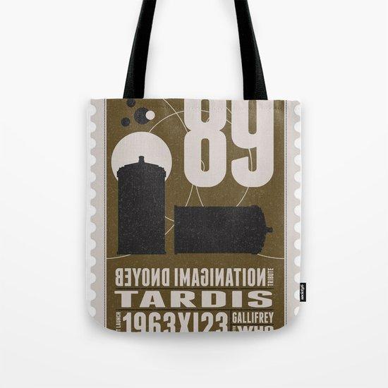 Bonus: Beyond imagination: TARDIS postage stamp Tote Bag