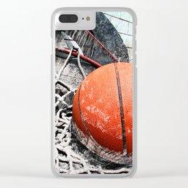 Modern Basketball Art 8 Clear iPhone Case