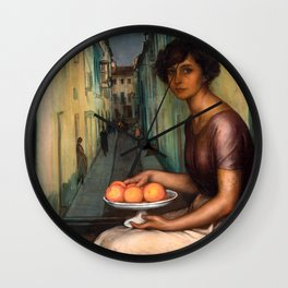 Julio Romero de Torres - La niña de la calle Armas Wall Clock