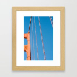 that sf bridge Framed Art Print