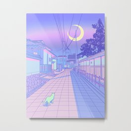 Kyoto Nights Metal Print
