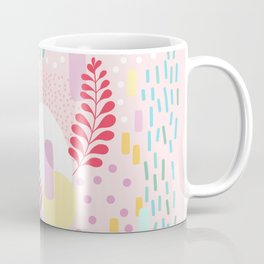 Organic Nature - Colourful Doodle Pattern 4 Coffee Mug