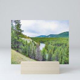 Altai mountains. River Argut. Beautiful highland landscape. Russia. Siberia Mini Art Print
