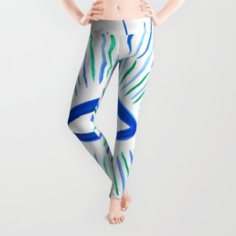 All Seeing Eye in Blue Watercolor Leggings