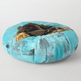 Rottweiler  - Metzgerhund Puppy Floor Pillow