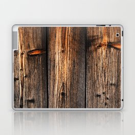 old wood table Laptop & iPad Skin