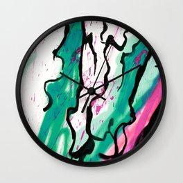 AquaPink Graffiti  Wall Clock