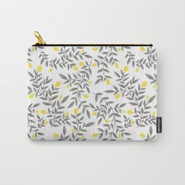 Lemon Pattern - Yellow & Gray  Carry-All Pouch