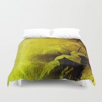 secret life Duvet Covers featuring Secret Ivy by Donna M Condida