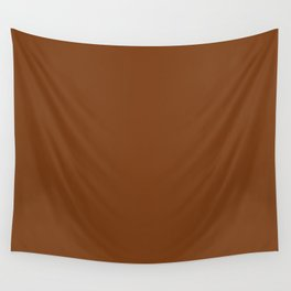 Dark Brown Toffee Fashion Color Trends Spring Summer 2019 Wall Tapestry