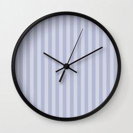 Gray blue simple stripes . Wall Clock