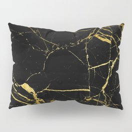 Golden Marble Pillow Sham