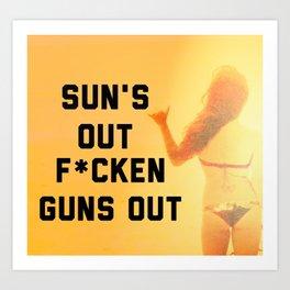 Sun's Out Art Print