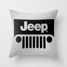 Jeep Steel Chrome Throw Pillow