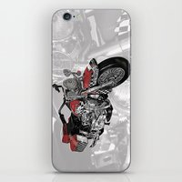 motorbike iPhone & iPod Skins featuring MotorBike by tuncay cavdar