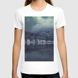 Lost my Soul - Dark Blue Night Forest T-shirt