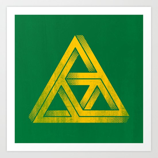 Penrose Triforce Art Print