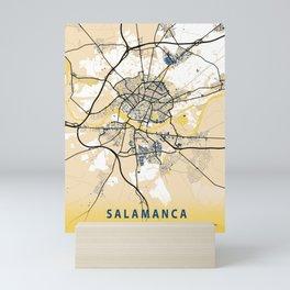 Salamanca Yellow City Map Mini Art Print