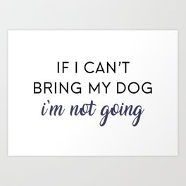 Bringing my Dog Art Print
