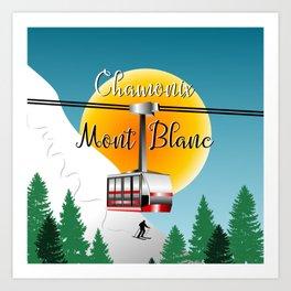 Mont Blanc Chamonix Art Print
