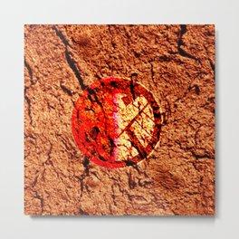 hydra crack shield Metal Print