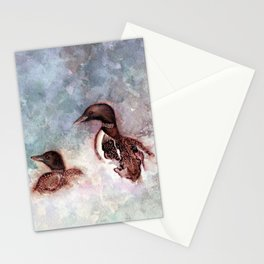 Loon Calling by Maureen Donovan Stationery Cards