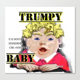Trumpy Baby Invasion Canvas Print