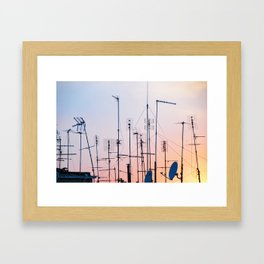 160. Antennas Sunset, Rome Framed Art Print