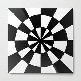 Optical pattern 78 -wheel Metal Print