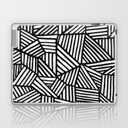 Black Brushstrokes Laptop & iPad Skin