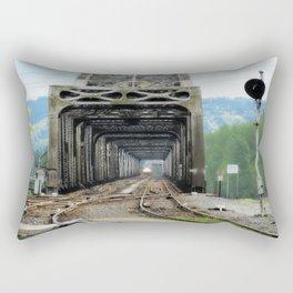 "Northbound Amtrak ""Coast Starlight"" at Vancouver, WA Rectangular Pillow"