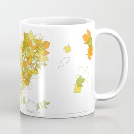 Heart of leaves 4U Coffee Mug