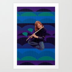 Flute Loops Art Print