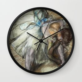 Edgar Degas - Dancer Adjusting Her Shoe Wall Clock